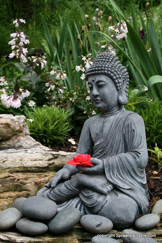 jardin bouddha pinterest zenitude jardins et bouddha. Black Bedroom Furniture Sets. Home Design Ideas