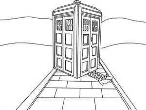 doctor who tardis coloring pages mewarnai coloring pages