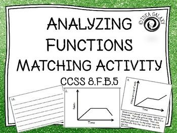 Analyzing Functions Activity Matching Activities Math Lab