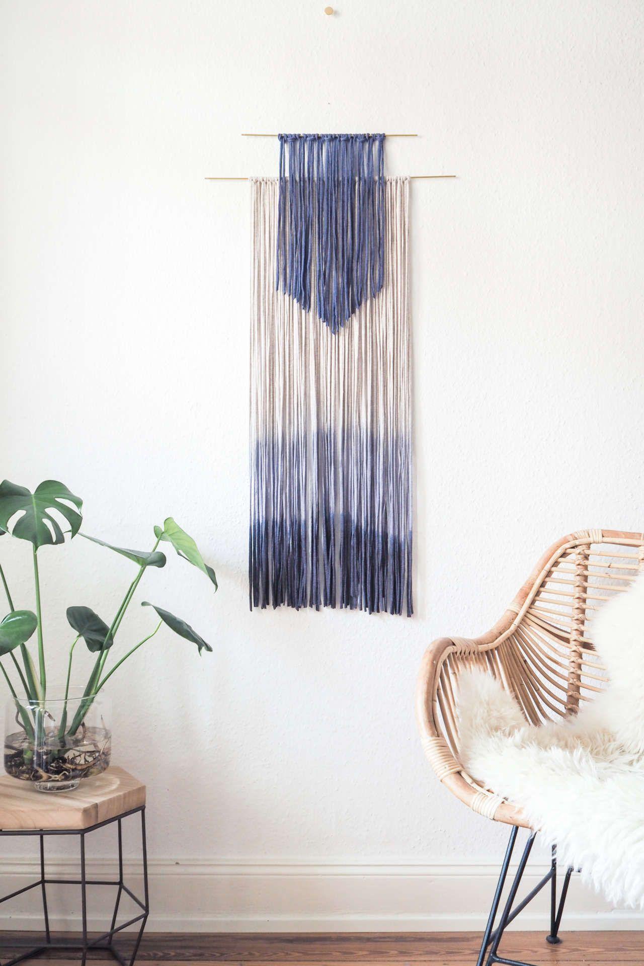 DIY Wanddeko selber machen: Dip Dye Wall Hanging   b l o g △ D I Y ...