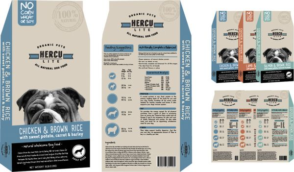 Herculite Dog Food Packaging By Marisa Montano Via Behance