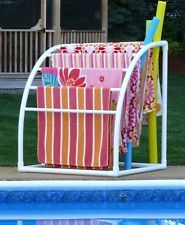 TowelMaid Outdoor 7 Bar Curved Freestanding Towel Rack NEW (CC426)