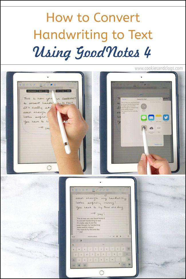 how do i convert handwriting to text on ipad pro