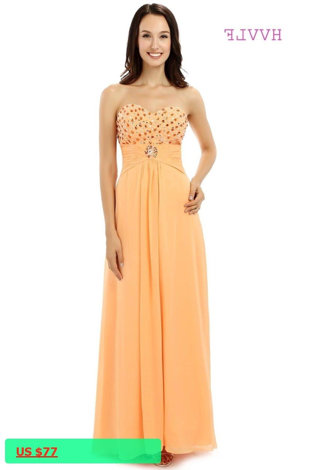 orange sweatheart ballgown prom dress