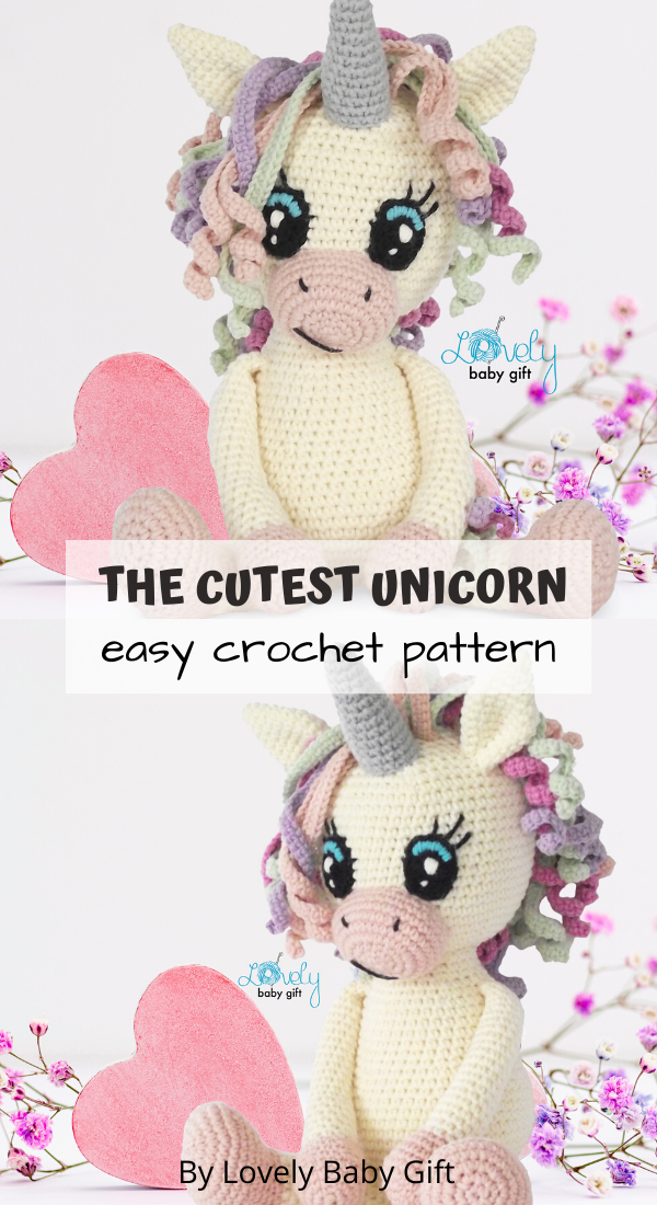 Amigurumi Unicorn Toy Easy Crochet Pattern