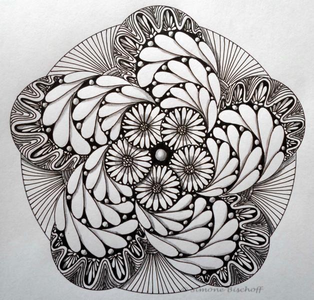 galerie kreisbilder  zendalas  zentangle zeichnungen