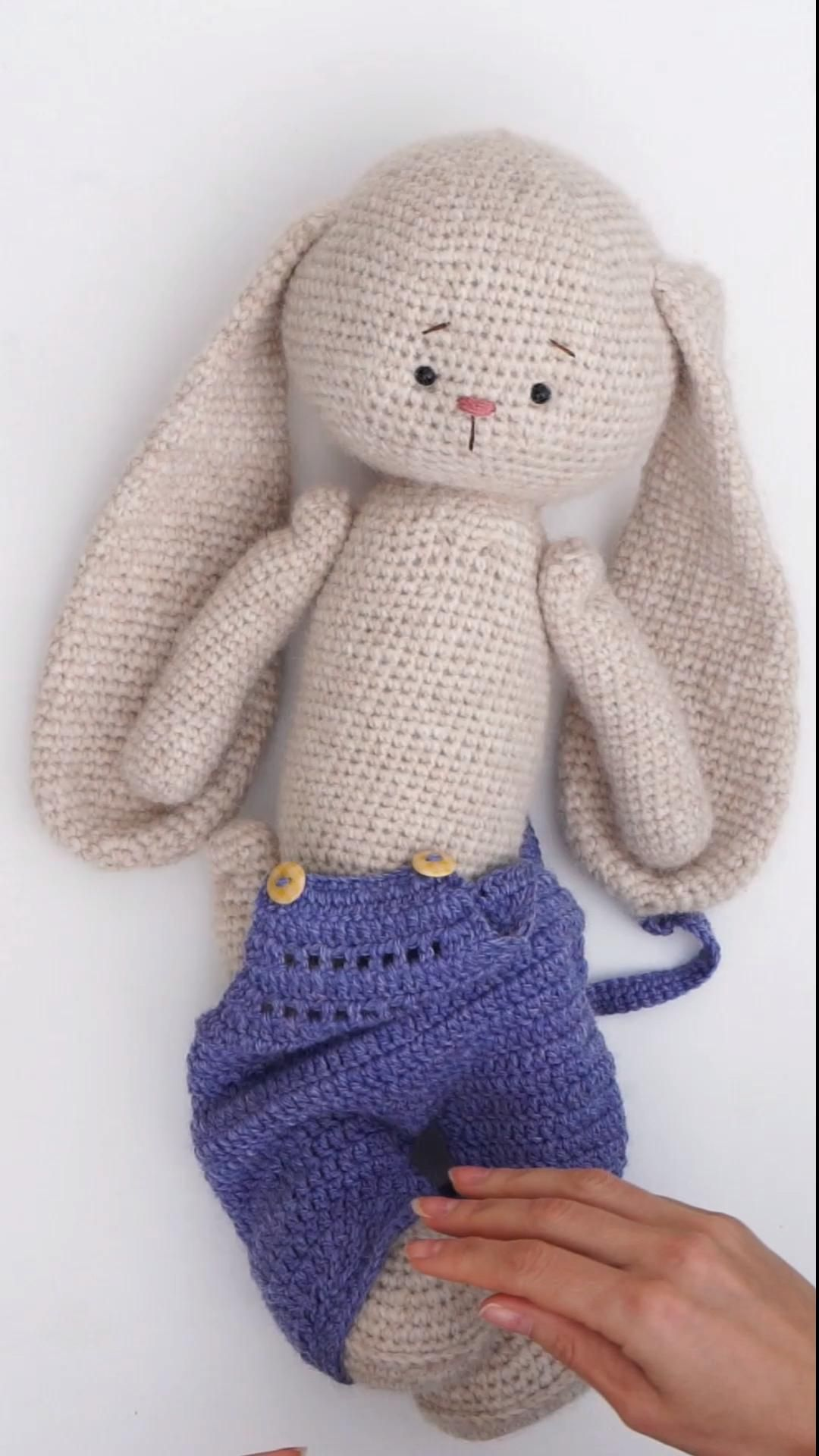 Crochet Pattern - Overalls for Toys
