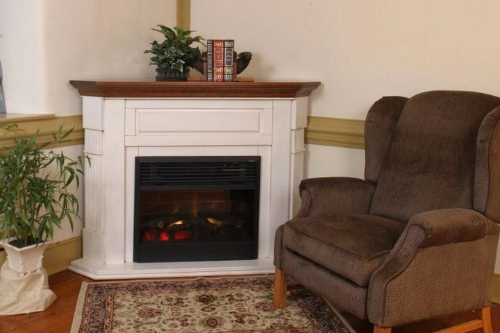 Pleasant Amish Corner Electric Fireplace Mantel With Insert Amish Interior Design Ideas Gentotryabchikinfo