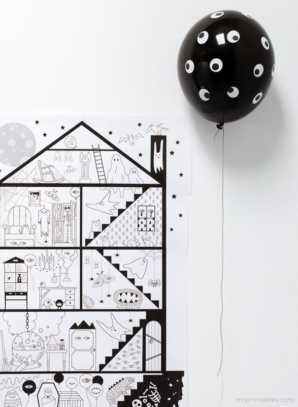 Giant Coloring Sheet : giant, coloring, sheet, Coolness:, Last-minute, Halloween, Edition, Coloring, Pages,, Coloring,, Crafts
