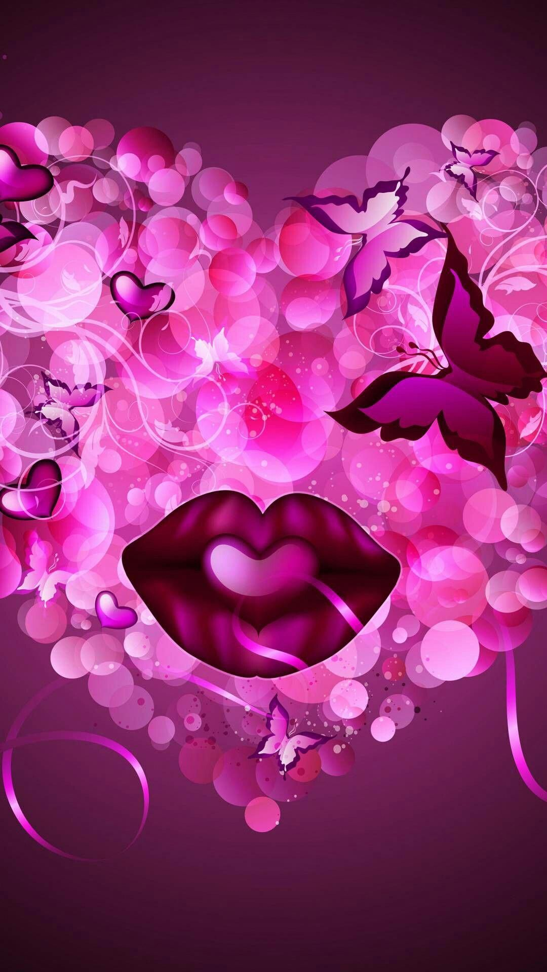 #Pinklips (With images) | Valentines wallpaper, Diamond ...