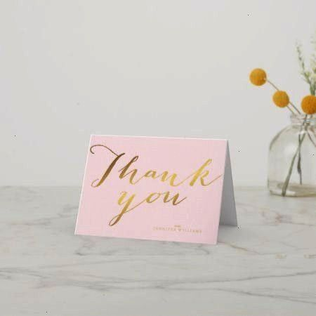 Gold Foil Thank You Notes  tapclick to get yours right now Chic Faux Gold Foil Thank You Notes  tapclick to get yours right now Baby Shower Thank You Stationery Babys Bre...