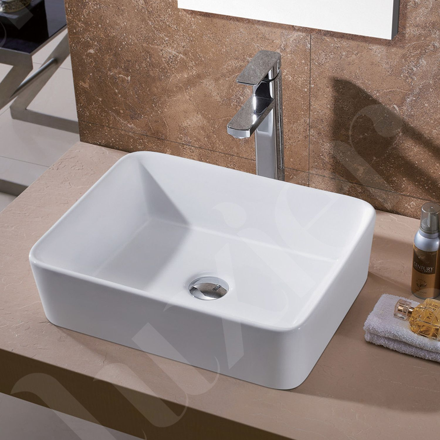 Luxier Porcelain Ceramic Vessel Vanity Bathroom Sink