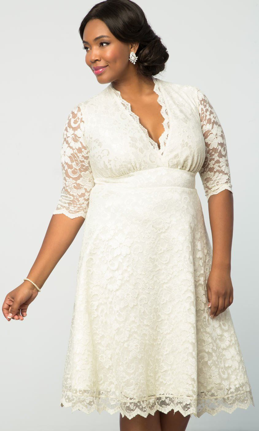 Simple lace dress styles  Simple and feminine is the key for your special day in our Wedding