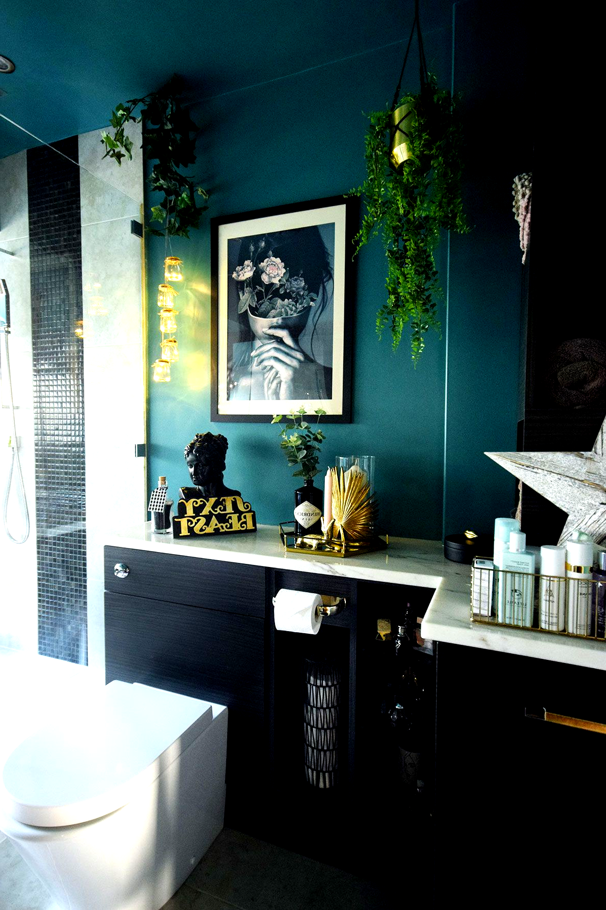 Luxury Teal Master Bathroom Makeover Reveal Part 1 Dark Large Dream Bathroom Inspirat Teal Bathroom Decor Teal Bathroom Accessories Bathroom Decor Luxury