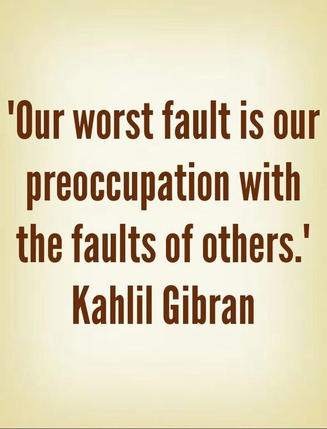 And the Worst Fault Is…