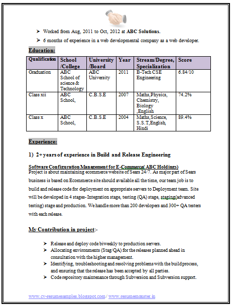 graduate resume format download  page 2