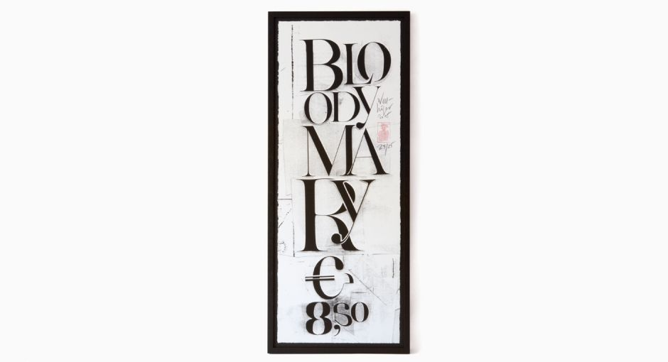Erich Wellh�fer - Bloody Mary Siebdruck