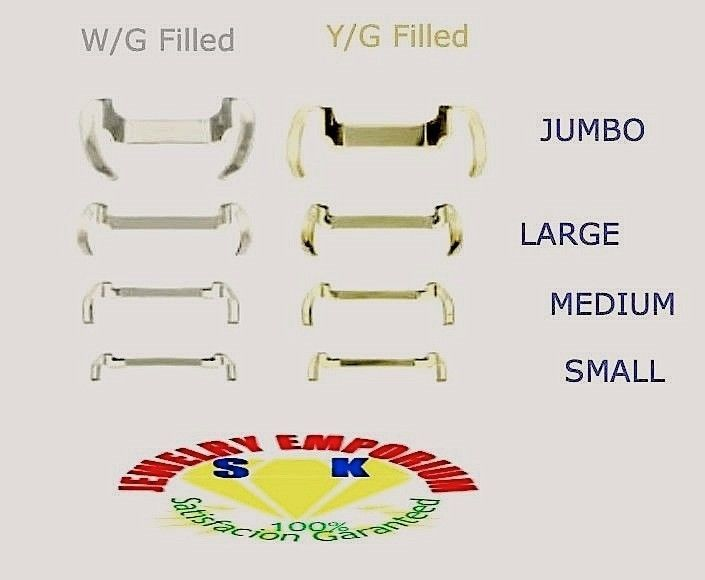 4X CLock WhiteYellow Gold Filled Ring Guard Size Adjustercustom