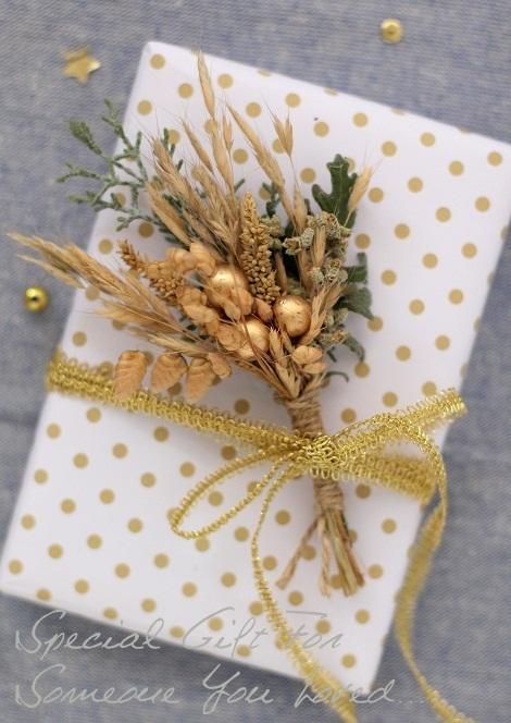 cafenoHut: Paketimdeki Çiçek - Gift Wrapping with Natural Flower