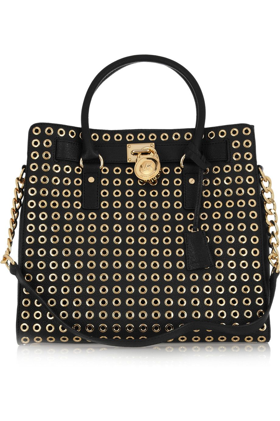 296f5815b3d MICHAEL Michael Kors - Hamilton textured-leather eyelet tote | Carry ...