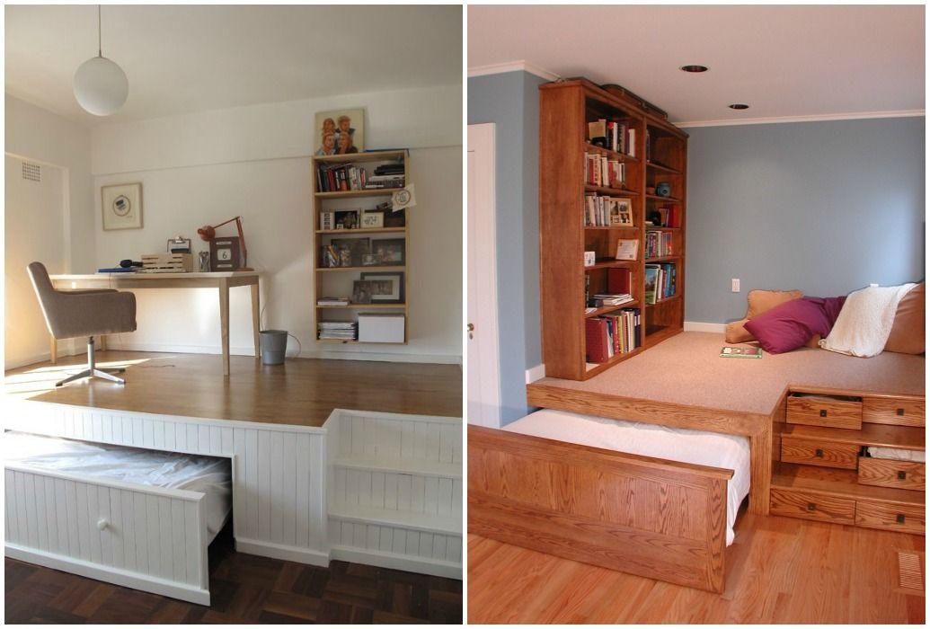 02 camas ocultas bajo el suelo dormitorio pinterest