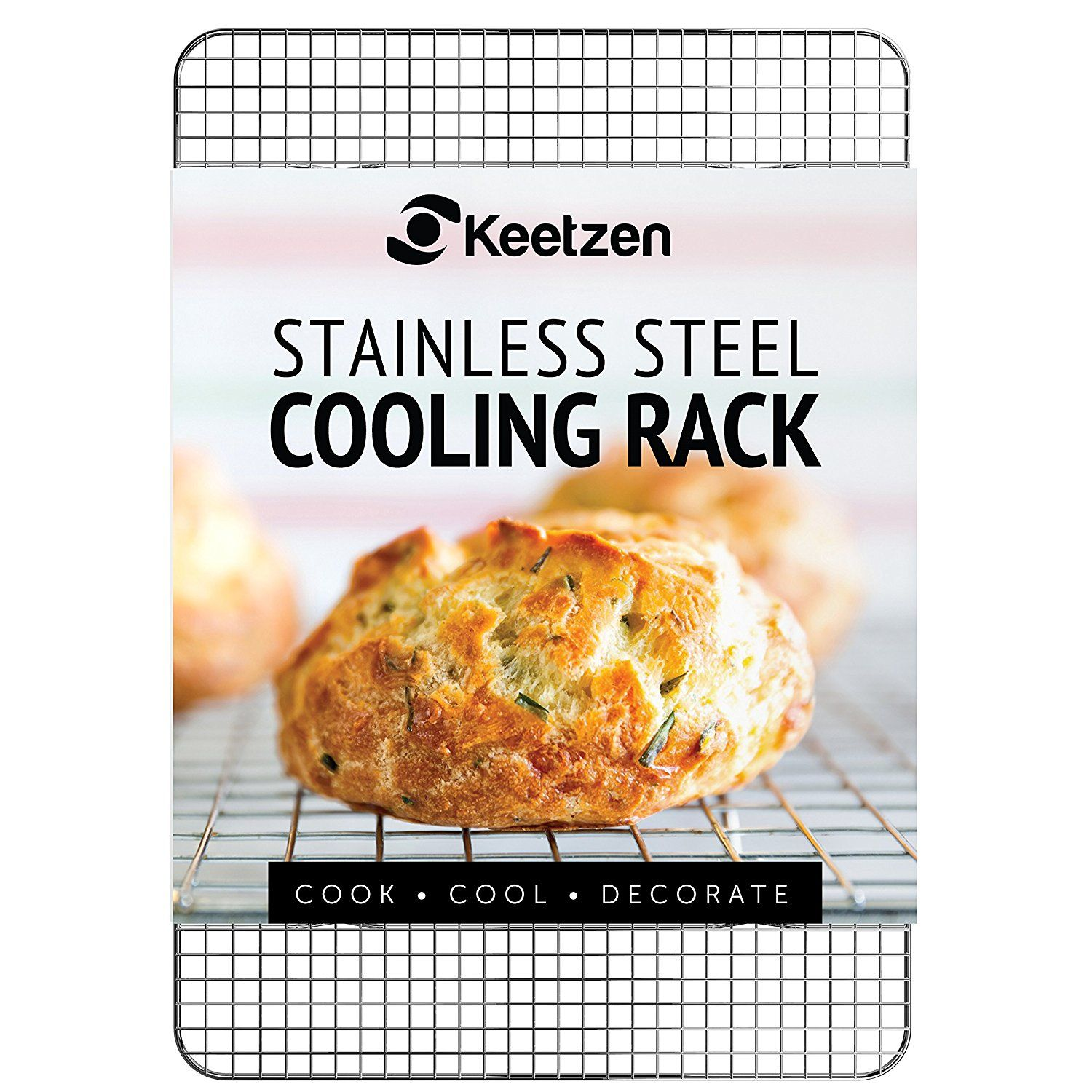 Cooling Rack By Keetzen 100 Real Stainless Steel 12 Inch X 17