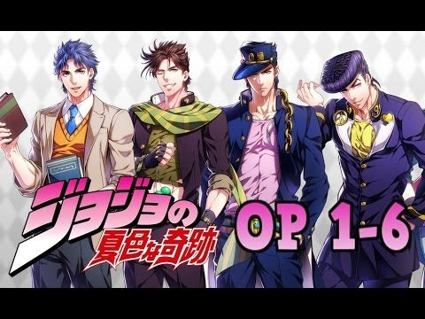 Openings de JoJo´s 1,2,3,4,5,6 (sound effects) | anime