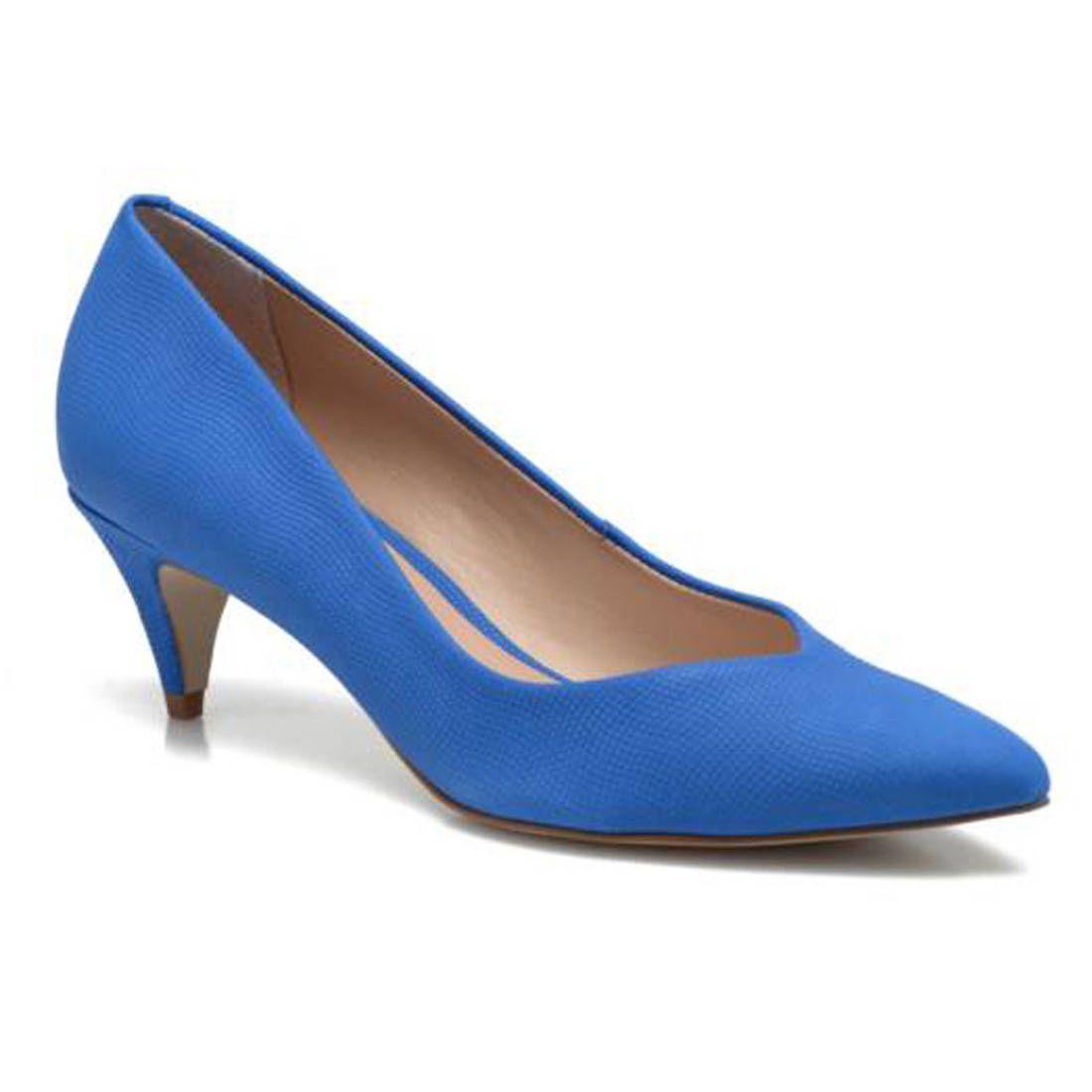 c51b445ea5c Escarpins petit talon bleus Aldo Modèle De Chaussure