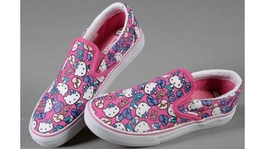 9ddc17769e Vans Shoes Pink True White Authentic Hello Kitty Womens Slip-On Canvas  Sneakers - Hellastyle Shop