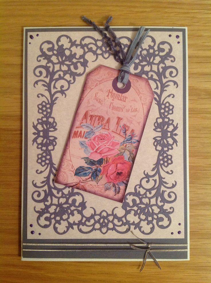 Card made using spellbinders devine floral die my card