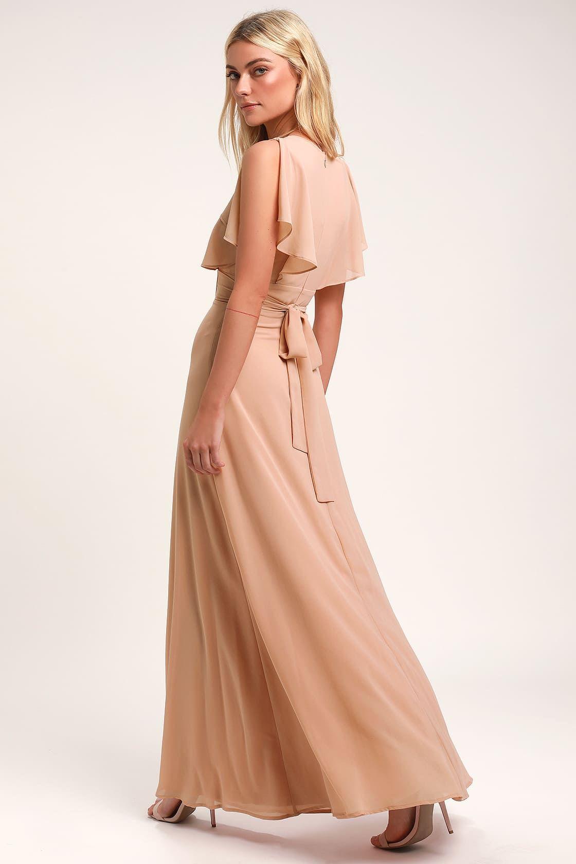 Dearly loved blush flutter sleeve maxi dress maxi dress