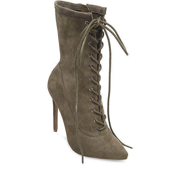 572031a920a Steve Madden Satisfied Booties ($130) ❤ liked on Polyvore featuring ...