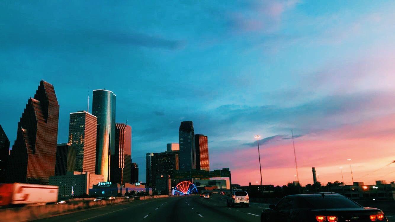 Houston Texas Sunset Houston Skyline Houston Texas Skyline Skyline Picture