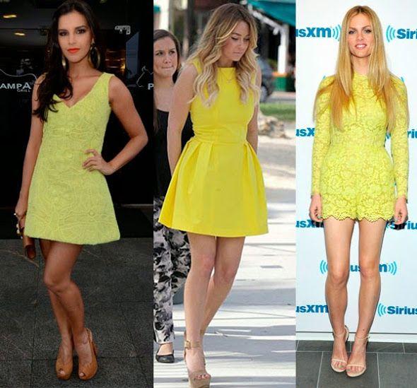 b1ccfdc30 Que cor de sapato usar com vestido amarelo? | | Vestido Amarelo ...