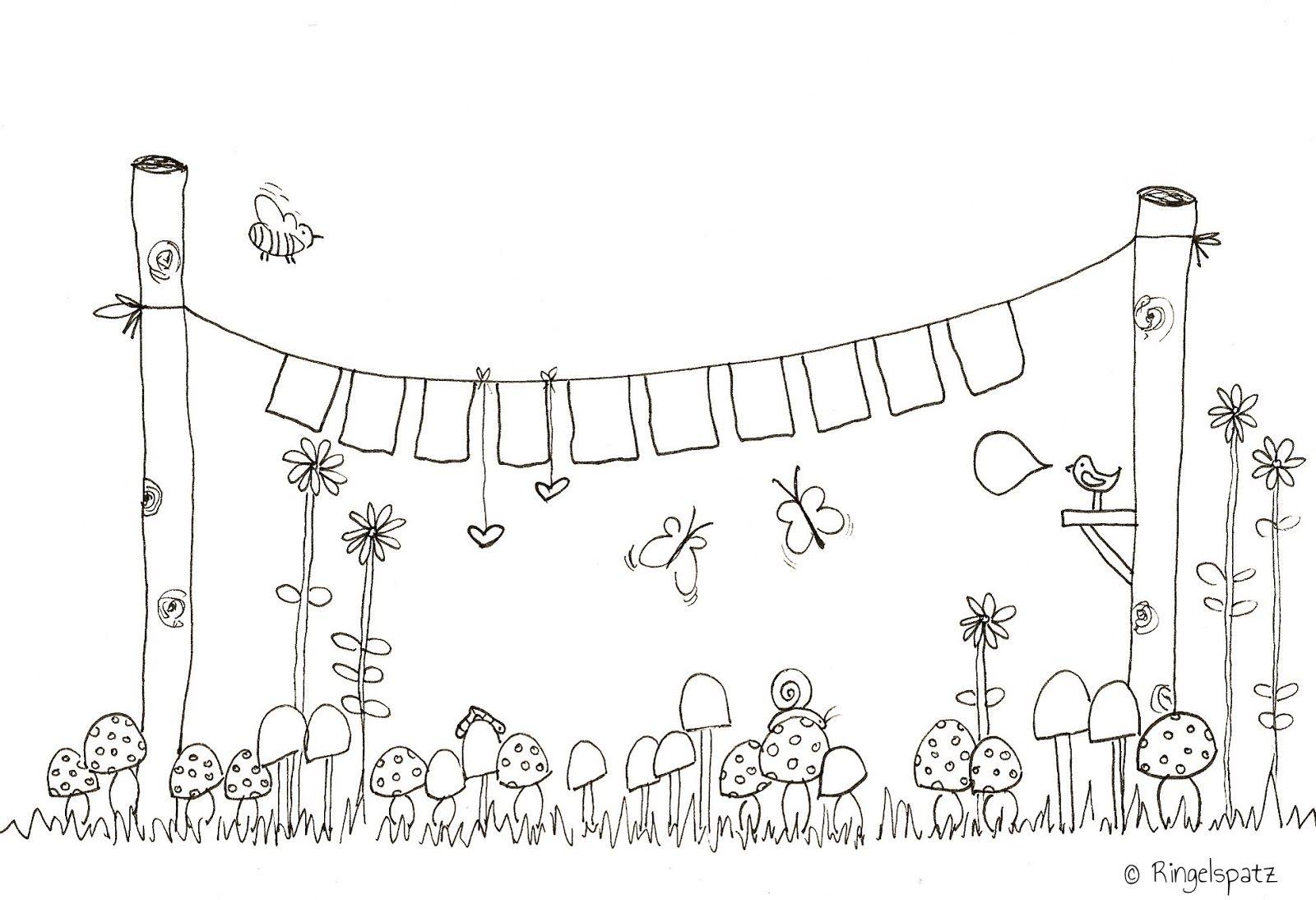 Eine tolle Girlande für dich im Garten #Ausmalbild #Malvorlage ...
