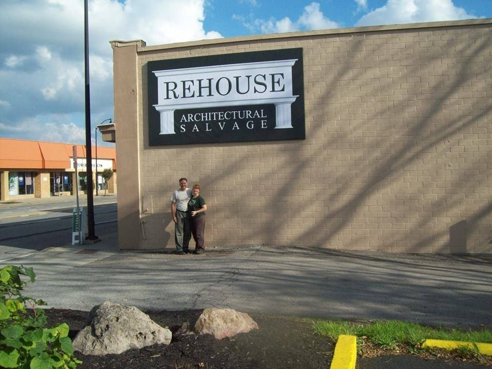 "Rehouse Architectural Salvage uses eSigns.com for their Outdoor Banners! Check out their totally awesome review, ""We are very happy with our new sign! We stretched this 8'x14' Vinyl Banner from eSigns over a wood frame and hung it on the wall."" -David K."