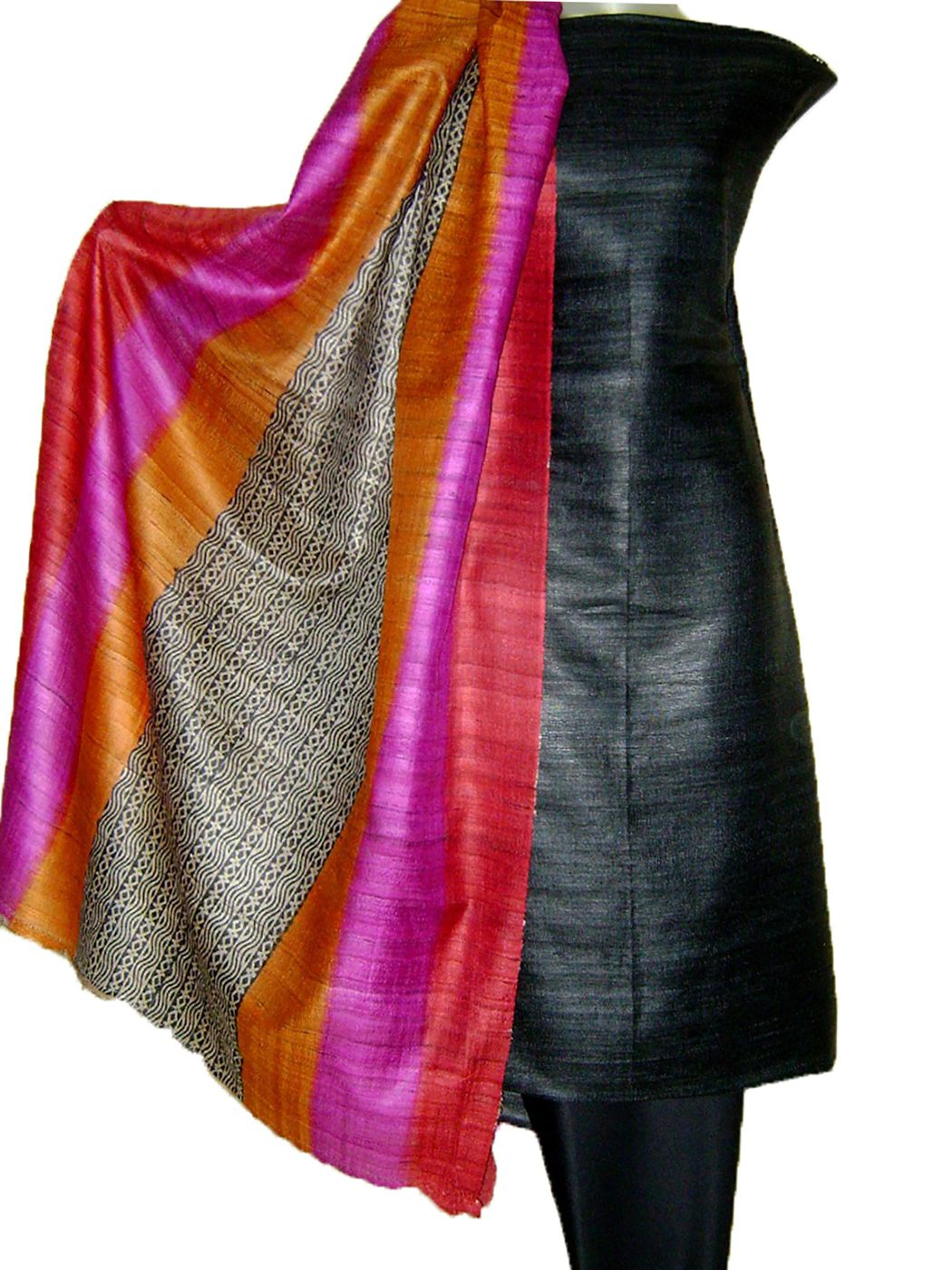 bdbd9f92df Tussar SIlk salwar Suits online. They are block printed. This ensemble is  good for