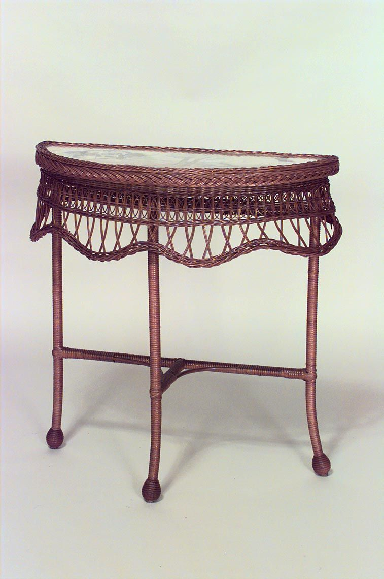 Wicker Victorian Table Console Table Natural With Images Victorian Wicker Old Wicker Wicker
