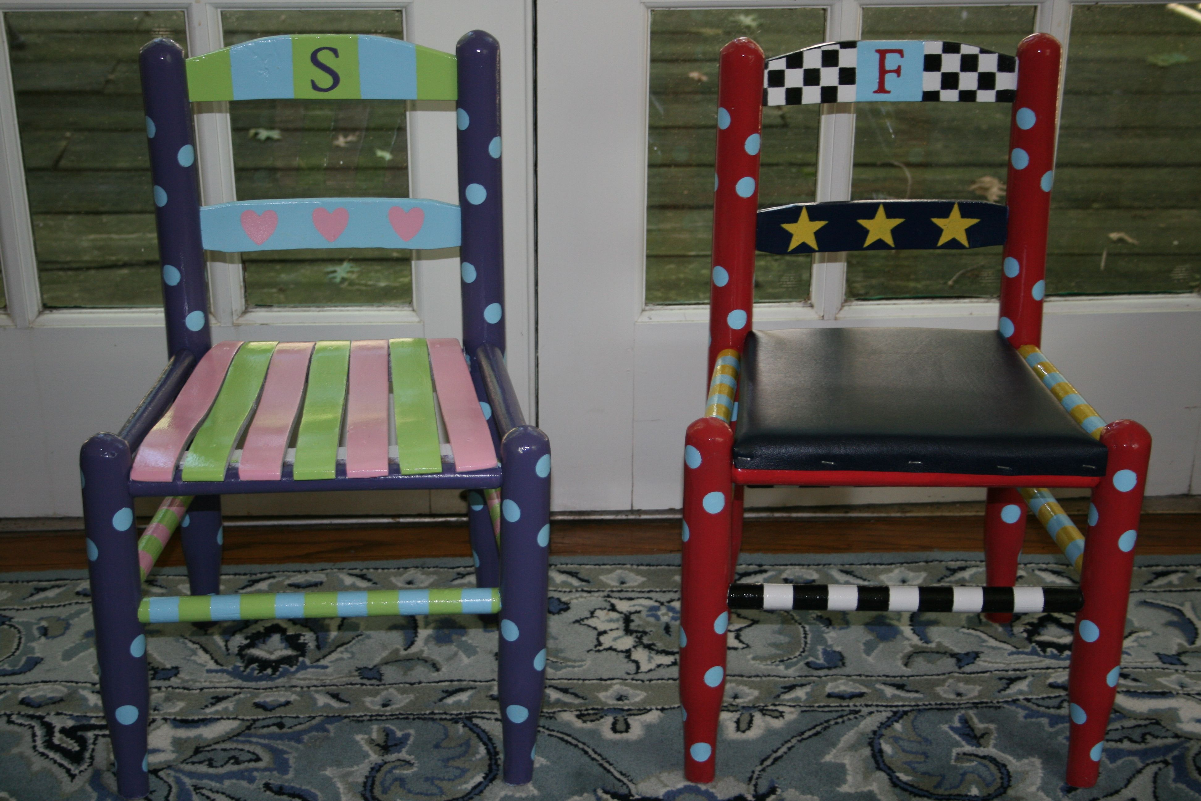 Sedie Dipinte A Mano : Painted childrens chairs childrens chairs pinterest