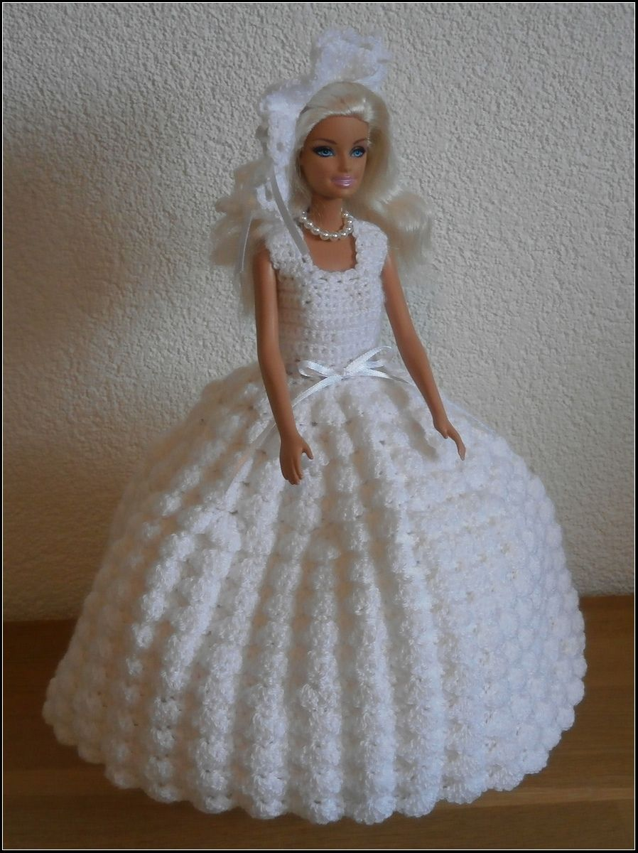 Trouwjurk haken voor barbie