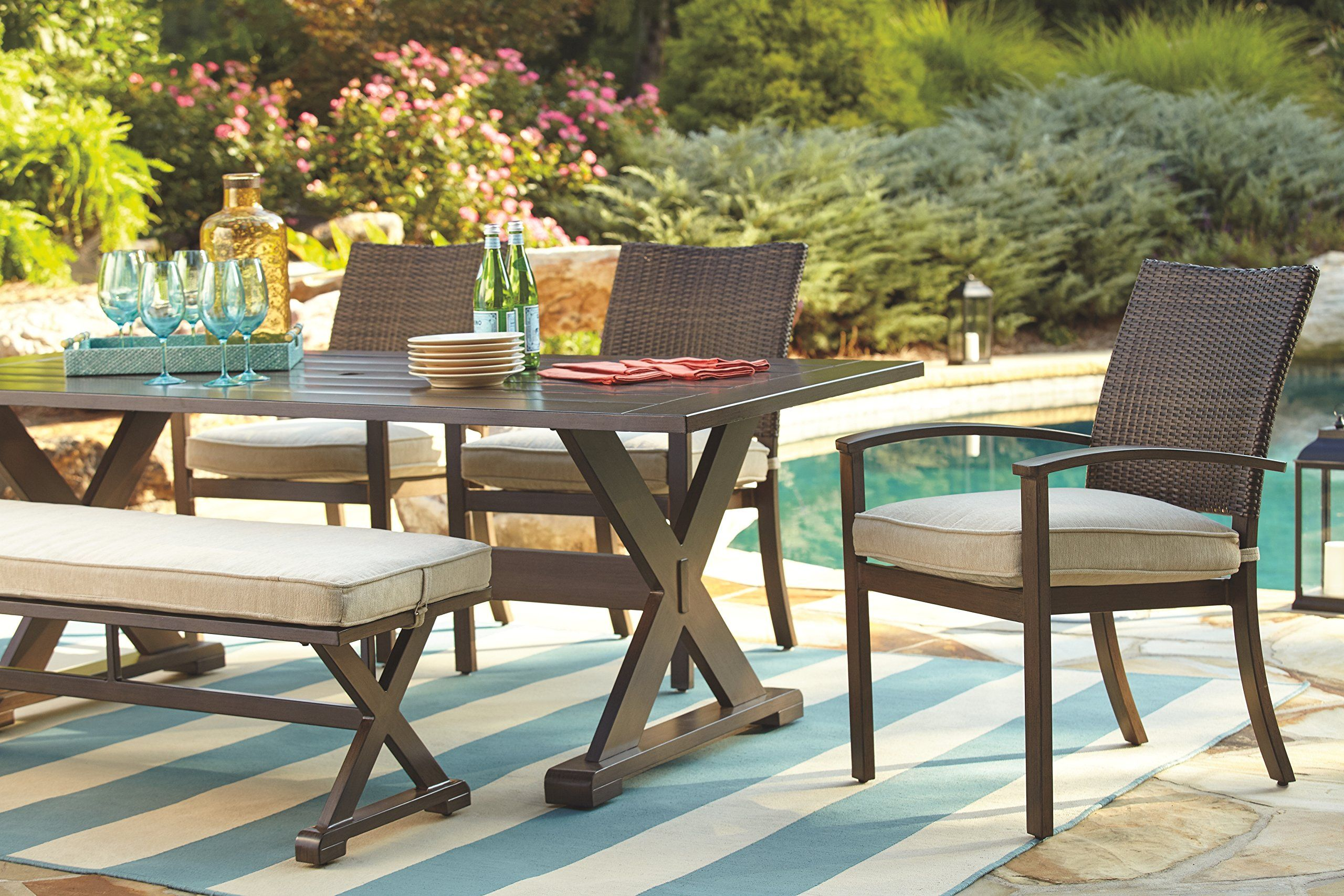 Ashley Furniture Signature Design Moresdale Outdoor Dining