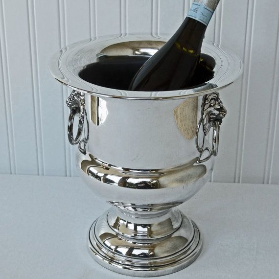 Vintage Silver Plated Wallace Champagne Bucket Ice Bucket Etsy Champagne Ice Bucket Ice Bucket Vintage Silver