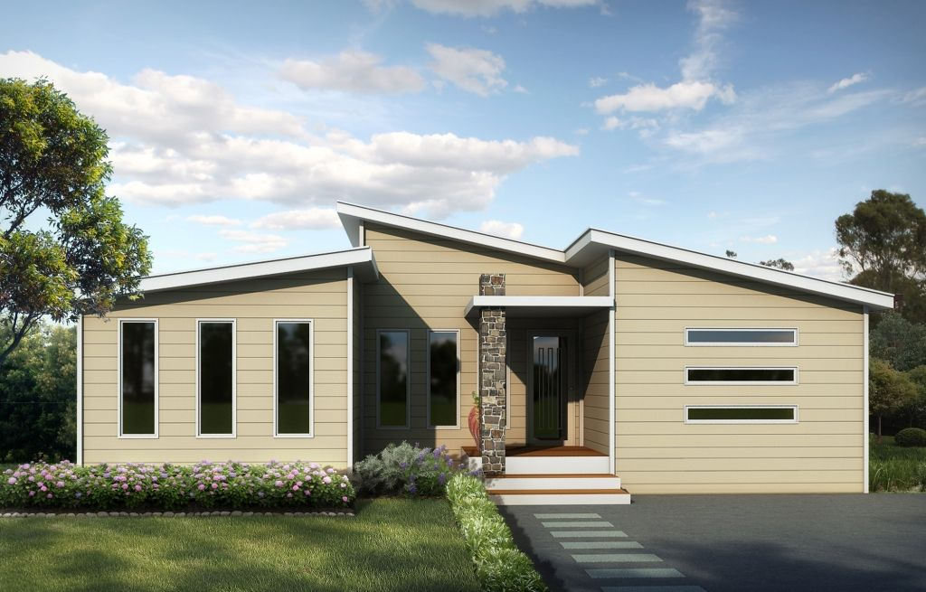 Contempo 3 Split Skillion Roof Modern Contemporary Home   Plans   Swanbuild  Manufactured Homes