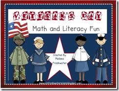Veteran's Day Unit Math and Literacy Centers  Mrs. Freshwater's Class