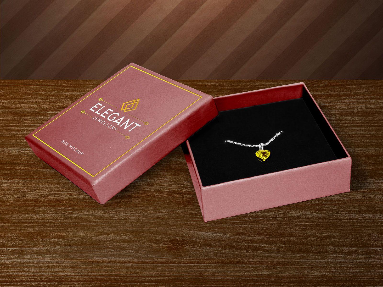 Download Free Jewellery Box Packaging Mockup Psd Packaging Mockup Small Jewelry Box Free Jewelry