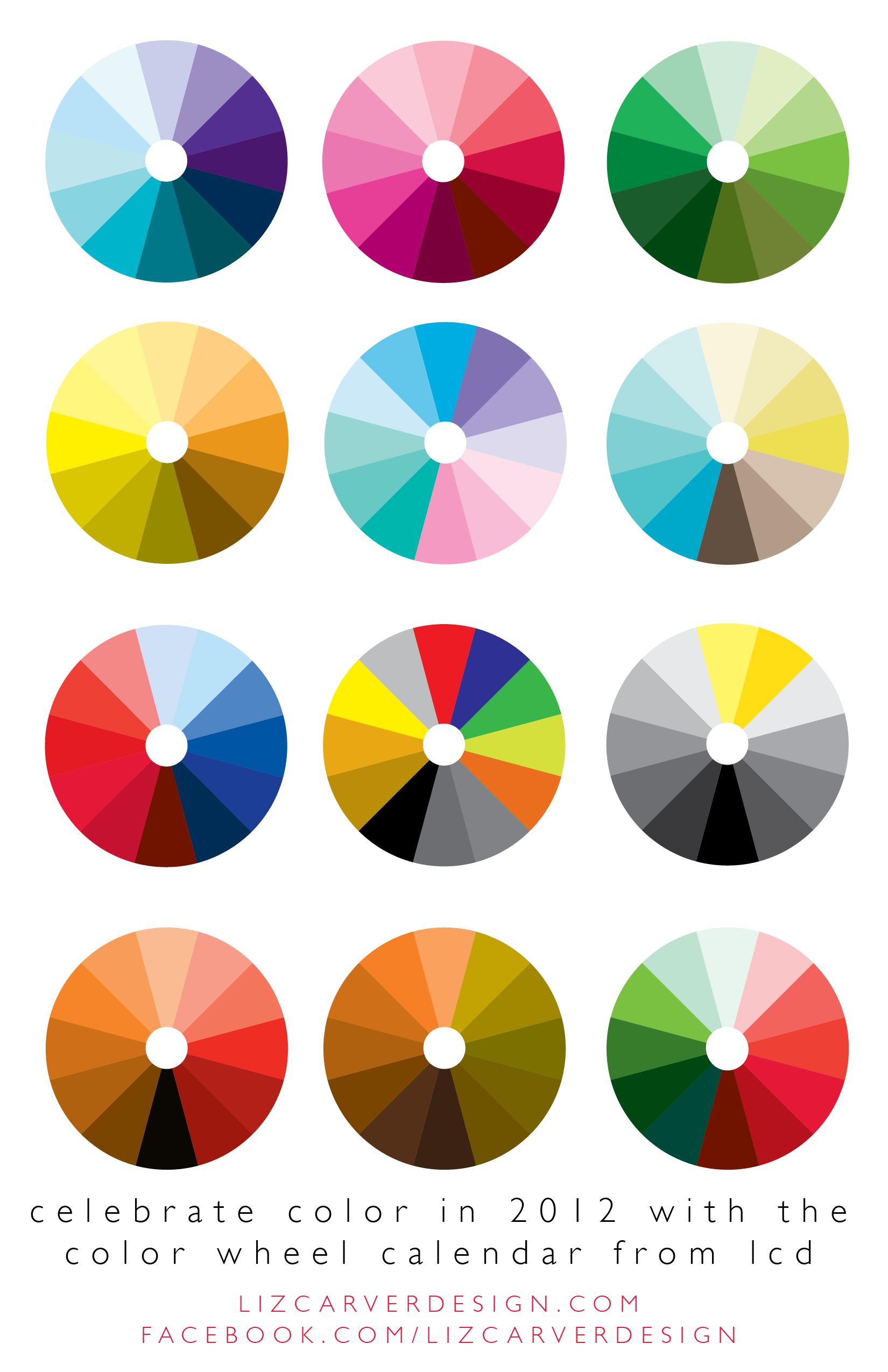 Color wheel calendar from liz carver design artsy design - Color wheel for decorating ...