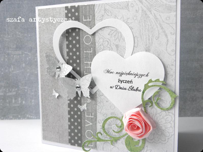 Kartka ślubna / A card for wedding