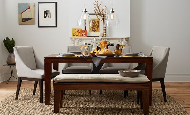 Bench And Chairs, Perfect: I Love The West Elm Curved