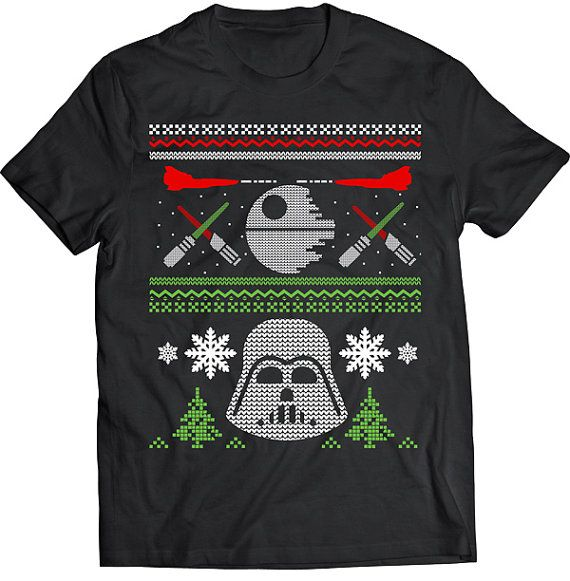 Funny Star Wars Space Ugly Christmas Sweater Darth Vader Tshirt Gift