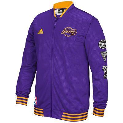 Men S Los Angeles Lakers Adidas Purple On Court Warm Up Jacket Jackets Team Sports Apparel Long Sleeve Tshirt Men